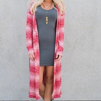 Cairo Striped Cardigan (Wine)