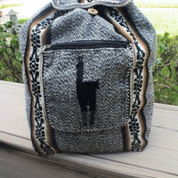 Peruvian Handmade tribal backpack