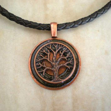Mens Necklace: Copper Tree - Mens Jewelry - Tree of Life - Wiccan Jewelry - Copper Jewelry - Celtic Jewelry - Tree Jewelry - Tree Necklace