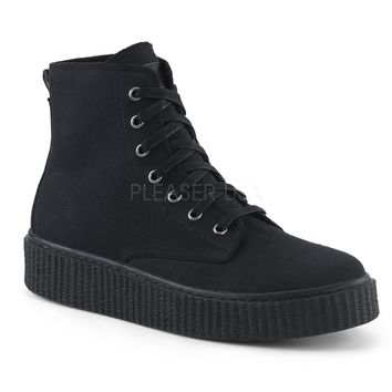 Demonia Lace Front Unisex Ankle Height Creeper Sneakers