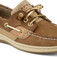 Sperry Top-Sider Ivyfish Metallic Linen 3-Eye Boat Shoe Cognac/Sand, Size 8M  Women's Shoes