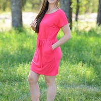 Fit To Be Tied Piko Dress