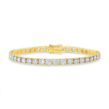 3.00ct 14k Yellow Gold Diamond Lady's Bracelet
