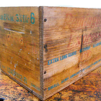 Vintage Remington Crate, Remington Box, Vintage Wood Box, Ammo Box, Bridgeport, Conneticut