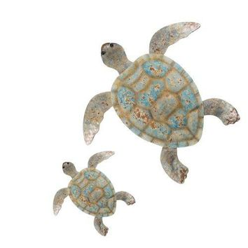 Regal Art &Gift Coastal Turtle Wall Decor, Set/2