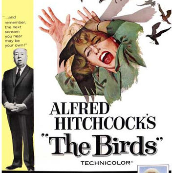 The Birds Alfred Hitchcock Movie Poster 11x17