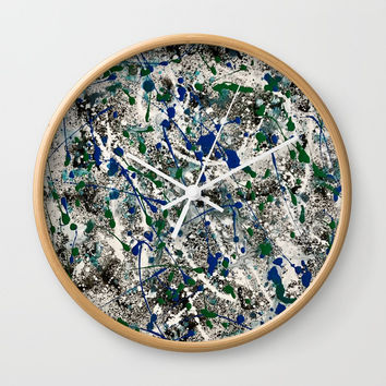 Revolving Positive Energy Wall Clock by Artist CL