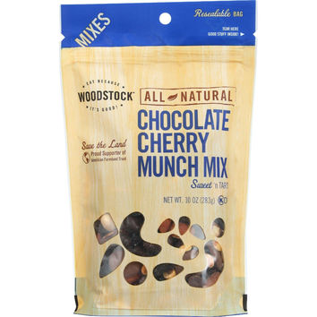 Woodstock Trail Mix - All Natural - Chocolate Cherry Munch - 10 Oz - Case Of 8