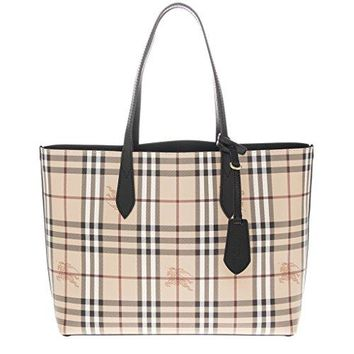 Burberry Women s The Medium Reversible Tote in Haymarket Check a 45c718a23705c
