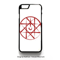Fullmetal Alchemist Soul Seal Symbol for iPhone 4 4S 5 5S 5C 6 6 Plus , iPod Touch 4 5  , Samsung Galaxy S3 S4 S5 Note 3 Note 4 , and HTC One X M7 M8 Case Cover