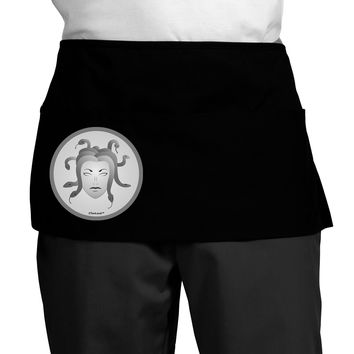 Medusa Head Coin - Greek Mythology Dark Adult Mini Waist Apron by TooLoud