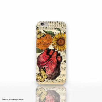 Anatomy heart on sheet music iPhone X case-anatomy heart iPhone 8/8 Plus-iPhone 7/7 Plus-iPhone 6/6 Plus-iPhone 5/5S-Galaxy-Huawei-NP3D220