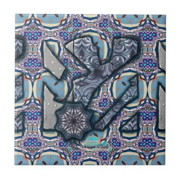 Living Metal No 2 Ceramic Tile