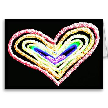 Rainbow heart anniversary card