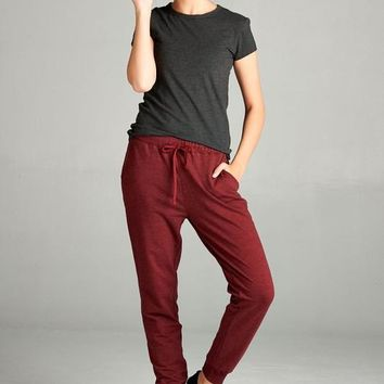 Lazy Day Sweatpants (Burgundy)