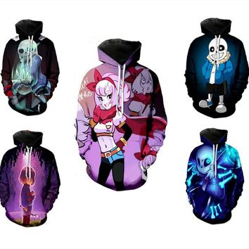 undertale sans frisk Sweater Cosplay Costumes Hoodie Uchiha Itachi Anime Adult men Ms 3D Printed Hooded Sweatshirts Jacket