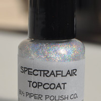 "Piper Polish - SpectraFlair Topcoat ""Mini"" 5 ml- Smooth Finish, Holographic Goodness"