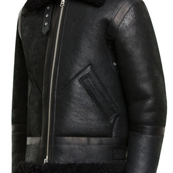 Acne Studios - Ian Shearling Black