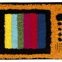 XL Extra Large Cool Chenille Vintage Retro TV Television Patch 12.5cm Applique