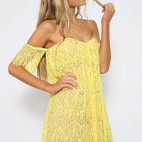 Sweet Aromas Dress - Yellow