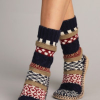 Knitted Slipper Socks