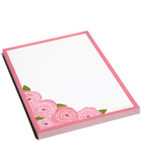 for the DESK - notePADS - Roses notePAD - Snow & Graham: Letterpress Stationery, Invitations, Greeting Cards and Calendars