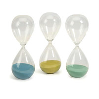 3 Hourglasses - Measures 30 Minute Intervals