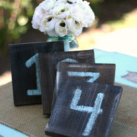 Rustic Table Numbers Distressed Wedding Decor Barn Farm Country Shabby Chic (item P10360)