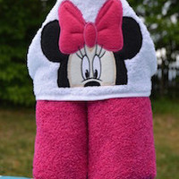Mouse Girl Hooded Towel