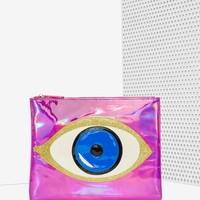 Nila Anthony No More Tears Holographic Clutch
