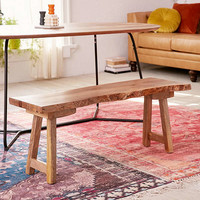 Live Edge Bench | Urban Outfitters