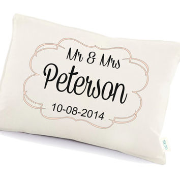 Mr & Mrs pillow cushion, Personalized pillow, Anniversary gift, two year anniversary, pillow with a text (19)