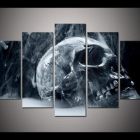 Print Framed Horror skull picture poster for living room decor wall art