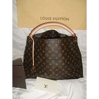 LV Louis Vuitton Women Shopping Bag Leather Tote Handbag Satchel Bag I