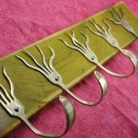 GO GREEN Stained 5 Funky Forks Coat Rack OH YEAH by jjevensen