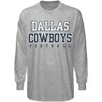 Reebok Dallas Cowboys Ash Practice Long Sleeve T-shirt