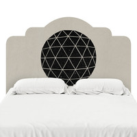 Geodesic Black Headboard Decal