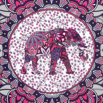 Elephant Tapestry Mandala Hanging Tapestry Home Decorative Wall Hanging Tapestry Towel Yoga Mat Bedspread Table Cloth
