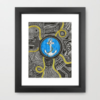 Ahoy! Framed Art Print by L. Moore | Society6