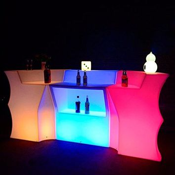 Remote Control Luminous LED Bar Counter LED Bar Table Rechargeable Multi-color LED Bright Furniture