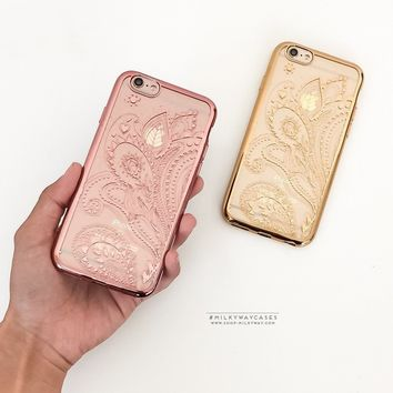 Gilt Henna Paisley' - Clear Case Cover
