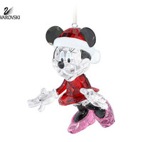 Swarovski Crystal Christmas Ornament MINNIE MOUSE #5004687 New