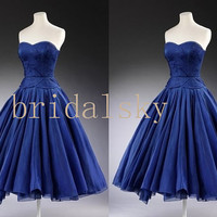 Royal Blue Vintage Prom Dress Evening Dress Fashion Evening Gowns Fashion Party DressWedding Party Dress Dress Party Fashion Party Dress