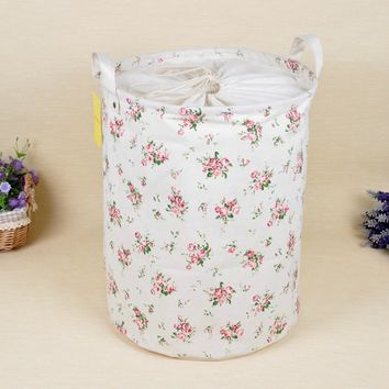 zakka  Laundry basket flower storage basket for toys  Multi-function Handle Stackable storage box