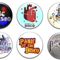 "6 New Panic At The Disco 1.25"" Pinback Button Badge Pin Set One"