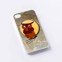 owl newspaper iPhone 4/4S, 5/5S, 5C,6,6plus,and Samsung s3,s4,s5,s6