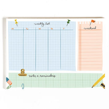 Weekly List Desk Notepad