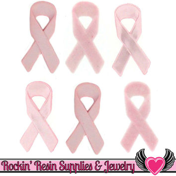 Jesse James Buttons 6 pc Breast Cancer Awareness Pink Ribbon Buttons