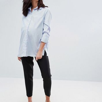 ASOS MATERNITY Workwear Ankle Grazer Pant at asos.com
