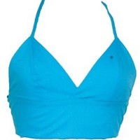 Turquoise Triangle Bralet Crop Top | Style Icon`s Closet